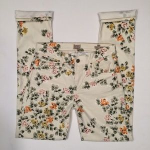 CoH Floral Mandy High Waist Retro Slim Roll Up